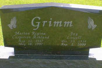 CASPERSON-ASHLAND GRIMM, MARIAN REGINA - Cerro Gordo County, Iowa | MARIAN REGINA CASPERSON-ASHLAND GRIMM