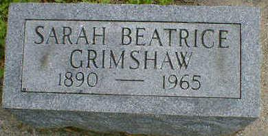 GRIMSHAW, SARAH BEATRICE - Cerro Gordo County, Iowa   SARAH BEATRICE GRIMSHAW