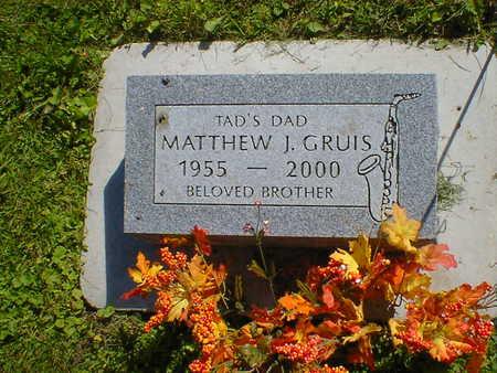GRUIS, MATTHEW J. - Cerro Gordo County, Iowa   MATTHEW J. GRUIS