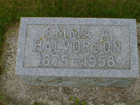 HALVORSON, EMMA A. - Cerro Gordo County, Iowa | EMMA A. HALVORSON