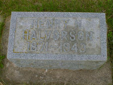 HALVORSON, HENRY N. - Cerro Gordo County, Iowa   HENRY N. HALVORSON