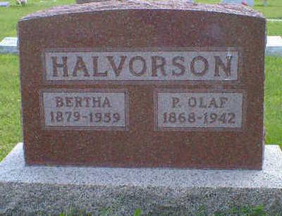 HALVORSON, P. OLAF - Cerro Gordo County, Iowa | P. OLAF HALVORSON