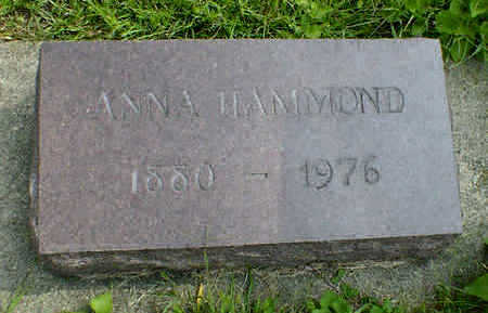 HAMMOND, ANNA - Cerro Gordo County, Iowa | ANNA HAMMOND