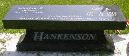 HANKENSON, CARL R. - Cerro Gordo County, Iowa   CARL R. HANKENSON