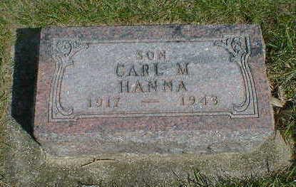 HANNA, CARL M. - Cerro Gordo County, Iowa | CARL M. HANNA