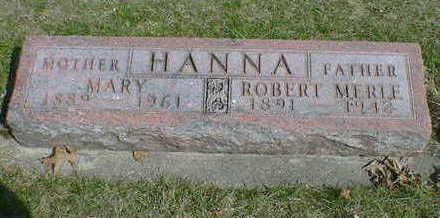 HANNA, ROBERT MERLE - Cerro Gordo County, Iowa   ROBERT MERLE HANNA