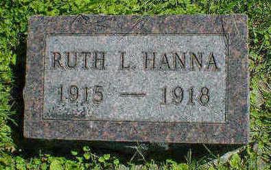 HANNA, RUTH L. - Cerro Gordo County, Iowa   RUTH L. HANNA