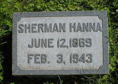 HANNA, SHERMAN - Cerro Gordo County, Iowa   SHERMAN HANNA