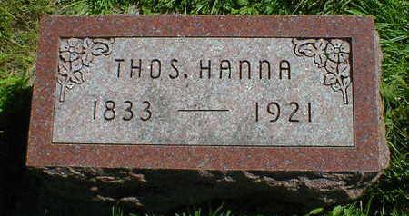 HANNA, THOS. - Cerro Gordo County, Iowa | THOS. HANNA