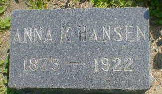 HANSEN, ANNA K. - Cerro Gordo County, Iowa   ANNA K. HANSEN