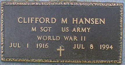HANSEN, CLIFFORD M. - Cerro Gordo County, Iowa | CLIFFORD M. HANSEN