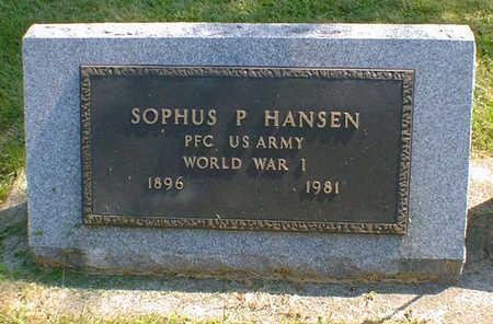HANSEN, SOPHUS P. - Cerro Gordo County, Iowa   SOPHUS P. HANSEN