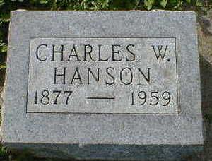 HANSON, CHARLES W. - Cerro Gordo County, Iowa | CHARLES W. HANSON