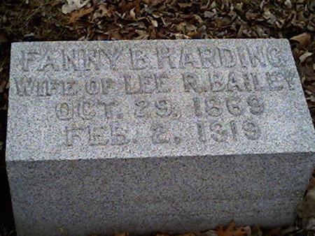 HARDING BAILEY, FANNY B. - Cerro Gordo County, Iowa | FANNY B. HARDING BAILEY