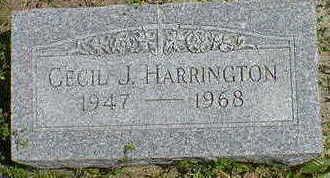 HARRINGTON,  CECIL J. - Cerro Gordo County, Iowa    CECIL J. HARRINGTON