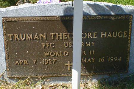 HAUGE, TRUMAN THEODORE - Cerro Gordo County, Iowa | TRUMAN THEODORE HAUGE