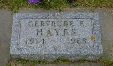 HAYES, GERTRUDE E. - Cerro Gordo County, Iowa | GERTRUDE E. HAYES