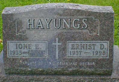 HAYUNGS, ERNIST D. - Cerro Gordo County, Iowa   ERNIST D. HAYUNGS