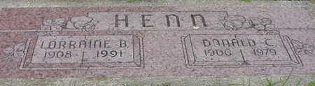 HENN, DONALD CLEMENS - Cerro Gordo County, Iowa | DONALD CLEMENS HENN