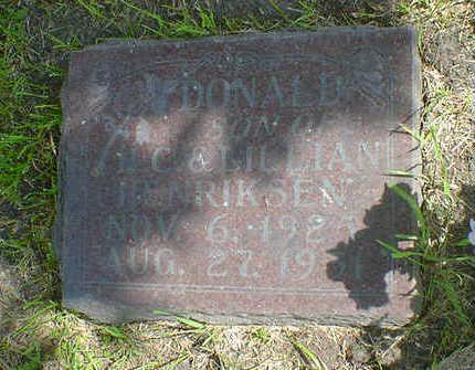 HENRIKSEN, DONALD - Cerro Gordo County, Iowa   DONALD HENRIKSEN