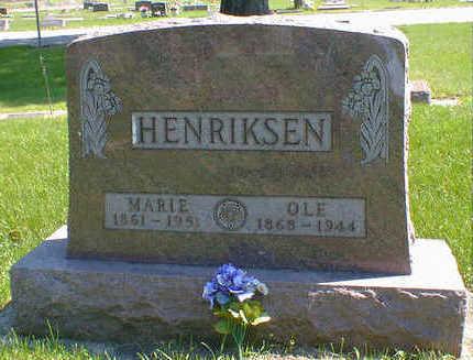 HENRIKSEN, MARIE - Cerro Gordo County, Iowa   MARIE HENRIKSEN