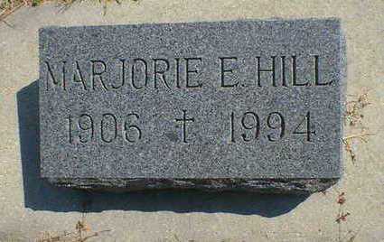 HILL, MARJORIE E. - Cerro Gordo County, Iowa | MARJORIE E. HILL