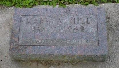 HILL, MARY A. - Cerro Gordo County, Iowa | MARY A. HILL