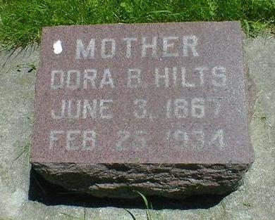 HILTS, DORA B. - Cerro Gordo County, Iowa   DORA B. HILTS