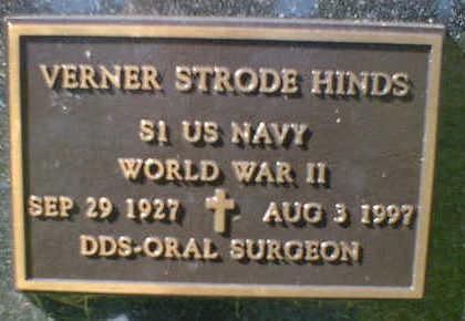 HINDS, VERNER STRODE - Cerro Gordo County, Iowa | VERNER STRODE HINDS