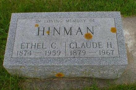 HINMAN, CLAUDE H. - Cerro Gordo County, Iowa | CLAUDE H. HINMAN