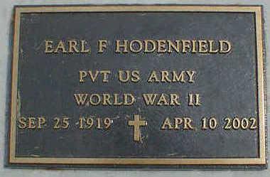 HODENFIELD, EARL F. - Cerro Gordo County, Iowa | EARL F. HODENFIELD