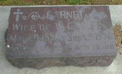 HOFER, GARNET - Cerro Gordo County, Iowa   GARNET HOFER