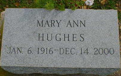 HUGHES, MARY ANN - Cerro Gordo County, Iowa   MARY ANN HUGHES