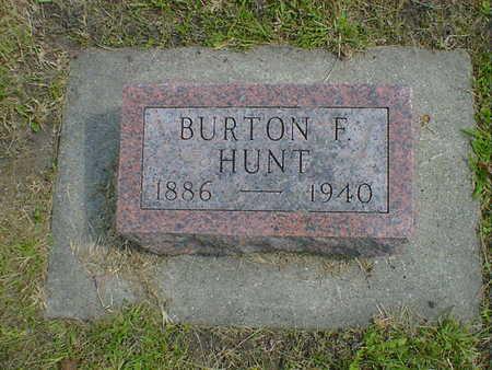 HUNT, BURTON F. - Cerro Gordo County, Iowa | BURTON F. HUNT