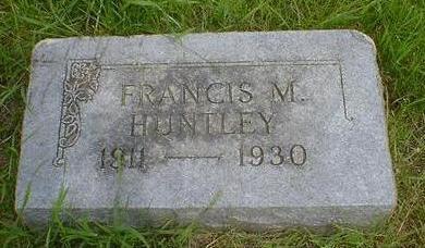 HUNTLEY, FRANCIS M. - Cerro Gordo County, Iowa | FRANCIS M. HUNTLEY