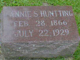 HUNTTING, ANNIE S. - Cerro Gordo County, Iowa | ANNIE S. HUNTTING