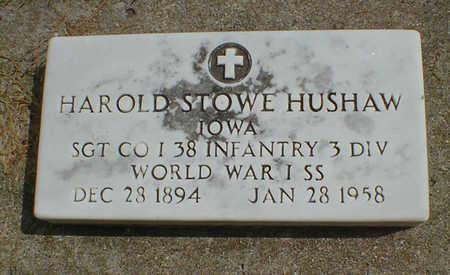 HUSHAW, HAROLD STOWE - Cerro Gordo County, Iowa | HAROLD STOWE HUSHAW