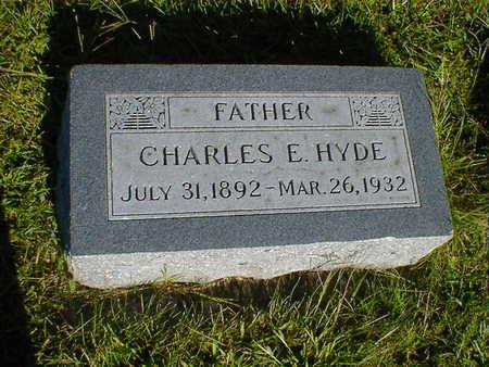 HYDE, CHARLES E. - Cerro Gordo County, Iowa   CHARLES E. HYDE