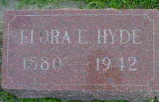 HYDE, FLORA E. - Cerro Gordo County, Iowa | FLORA E. HYDE