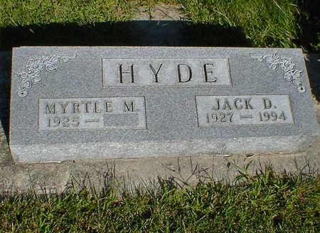 HYDE, JACK D. - Cerro Gordo County, Iowa | JACK D. HYDE