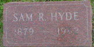 HYDE, SAM R. - Cerro Gordo County, Iowa | SAM R. HYDE
