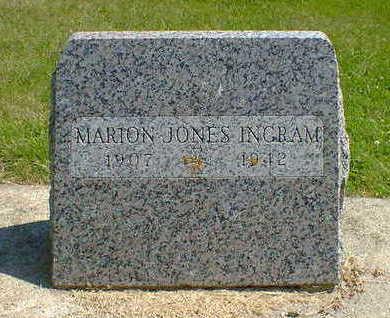 JONES INGRAM, MARION - Cerro Gordo County, Iowa | MARION JONES INGRAM
