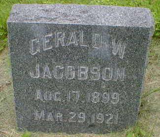 JACOBSON, GERALD W. - Cerro Gordo County, Iowa   GERALD W. JACOBSON