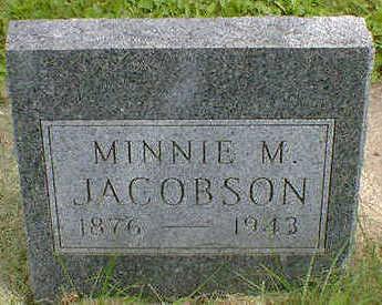 JACOBSON, MINNIE M. - Cerro Gordo County, Iowa   MINNIE M. JACOBSON