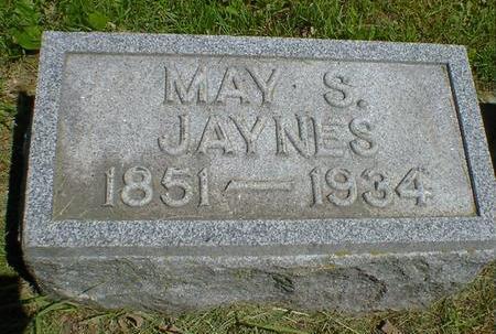 JAYNES, MAY S. - Cerro Gordo County, Iowa   MAY S. JAYNES