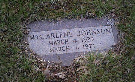 JOHNSON, ARLENE - Cerro Gordo County, Iowa | ARLENE JOHNSON