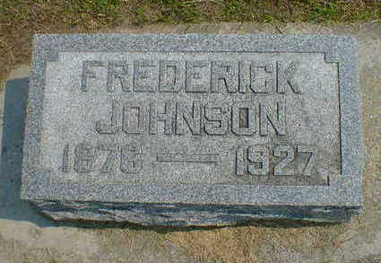 JOHNSON, FREDERICK - Cerro Gordo County, Iowa | FREDERICK JOHNSON