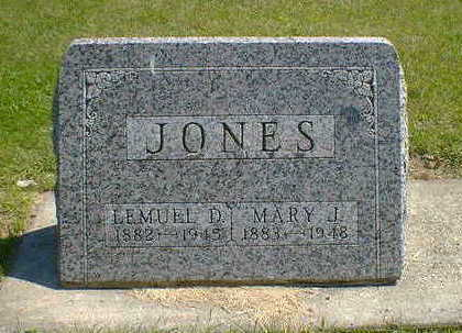 JONES, MARY J. - Cerro Gordo County, Iowa | MARY J. JONES