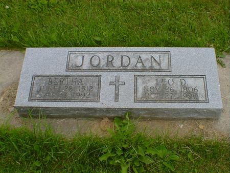 JORDAN, BERTHA - Cerro Gordo County, Iowa | BERTHA JORDAN