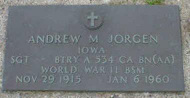 JORGEN, ANDREW M. - Cerro Gordo County, Iowa | ANDREW M. JORGEN